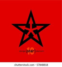 Abstract star logo, corporate vector design template. Company symbol.
