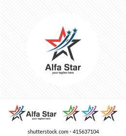 Abstract star logo template. Star vector logo design branding corporate identity. Simple modern star vector .
