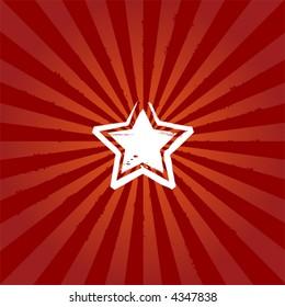 Abstract star on sunburst background