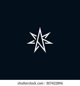 Abstract star symbol