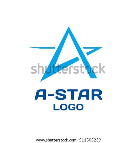 abstract star vector logo template modern stock vector royalty free