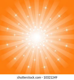 Abstract Starburst Background - Vector