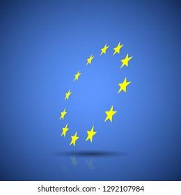 Abstract Stars European Union flag illustration