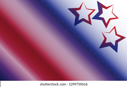 Abstract stars and stripes background