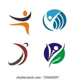 Abstract stick figure logo design vector