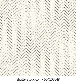 Abstract stitch strokes herringbone textured background. Seamless pattern.