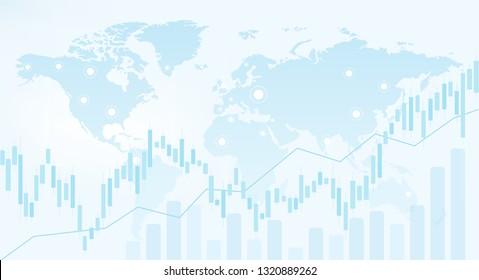 Abstract stock market background. Stock market data. Forex wallpaper. International business vector illustration.