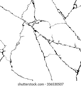 abstract stone background. black and white cracks. seamless texture