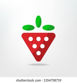 Abstract strawberry ogo/icon design. Vector images.