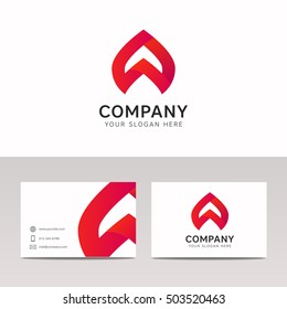 Abstract strip shape company sign vector icon