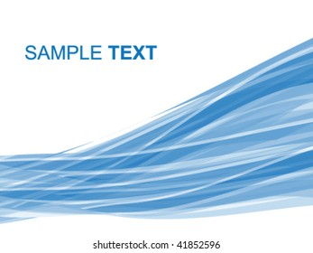 abstract striped background in blue tones, vector illustration