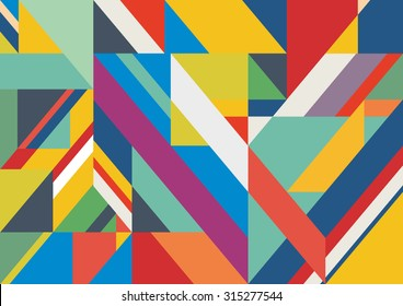 Abstract striped color textured geometric background. Vector pattern line illustration.