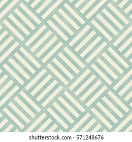 Abstract striped geometric seamless pattern on texture background in turquoise and beige. Endless pattern can be used for ceramic tile, wallpaper, linoleum, textile, web page background.