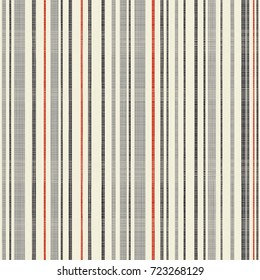 Abstract striped geometric seamless pattern on texture background in retro colors.