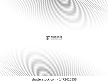 Abstract striped gray lines pattern warped diagonal on white background. Curved twisted slanting wave line texture. Vector illustration