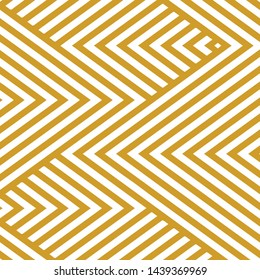 Abstract stripped geometric gold background concept