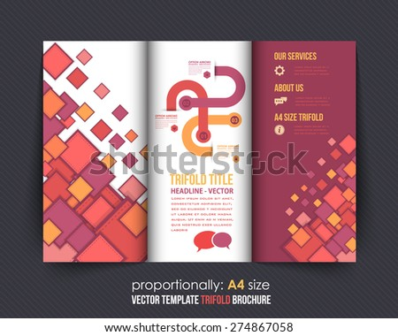 abstract style business concept trifold design stock vector royalty