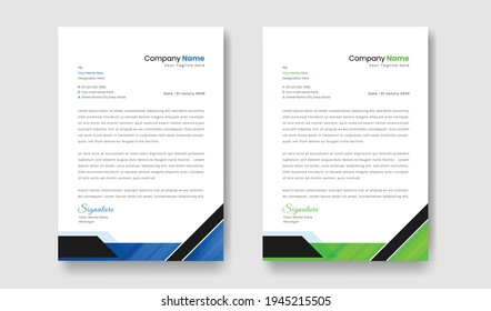 abstract style letterhead template design