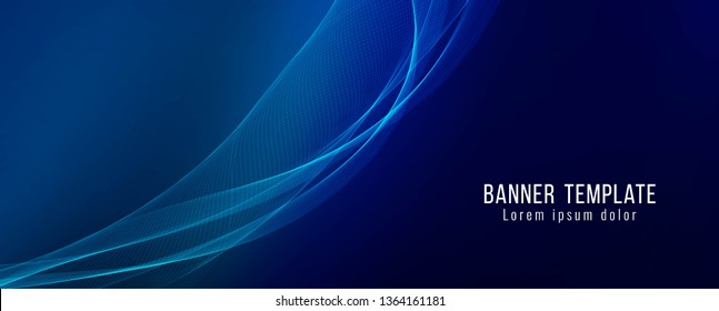 Abstract stylish banner template design