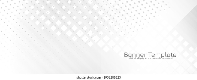 Abstract stylish bright geometric design banner vector
