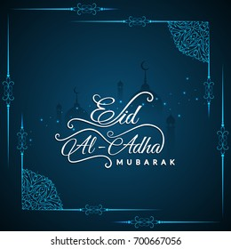 Abstract stylish Eid Al Adha religious background