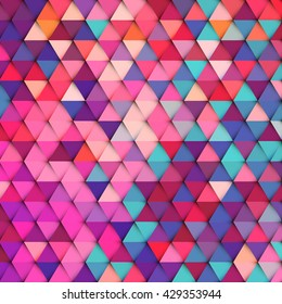 Abstract stylish geometric background with vibrant color tone.