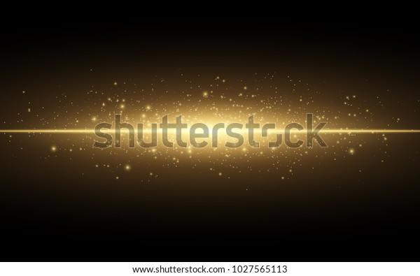 Затуманенное золото боке на черном фоне. светящиеся желтые огни ... | 395x600