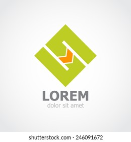 Abstract stylish logo. Corporate, Media, High Technology styles vector logo design template. Vector illustration