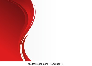 Abstract Stylish Red Wave Background with Empty Space for Text Design Template Vector