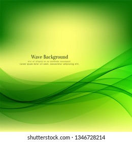 Abstract stylish wave design background
