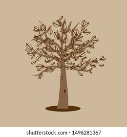 Abstract stylized tree. Vector illustration