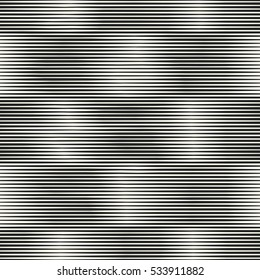 Abstract subtle checked motif in black and white variegated stripes. Seamless pattern.