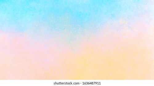 Abstract subtle colored background, hand painted watercolor texture, vector illustration
