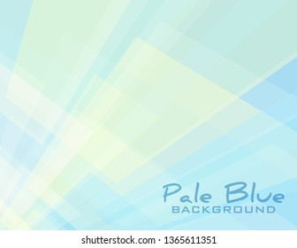 Abstract subtle geometric background with cream and pale blue rectangles in perspective. Simple vector graphic pattern