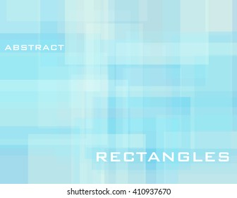 Abstract subtle pale turquoise geometric background with rectangles. Simple light blue vector graphic pattern