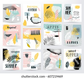 Abstract summer tropical set
