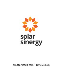 Abstract Sun Floral Logo Sign Symbol Icon