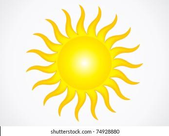 abstract sun icon vector illustration