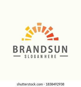 Abstract Sun Logo Business Design Template. Nature Sunset Logo Business Icon Sign Stock Vector. Sun Solar Energy Logo Design Template