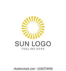 Abstract sun logo design energy symbol