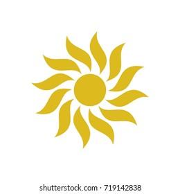 Abstract Sun Logo Template