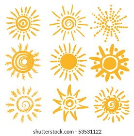 abstract sun shapes