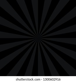 Abstract sunburst or sunbeams empty background in gray and black colors. Blank retro vintage backdrop designed in square size. The design graphic element is saved as a vector illustration.