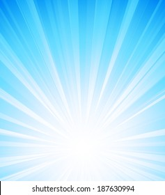Abstract sunlight background. Blue burst