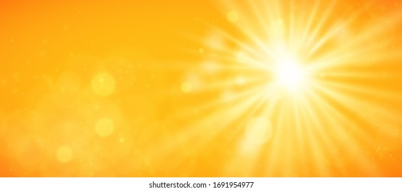 Abstract sunny sky. Bright and warm light wallpaper vector background