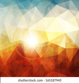 Abstract sunset background, warm texture design.