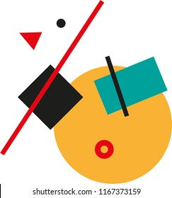 Abstract Suprematist poster