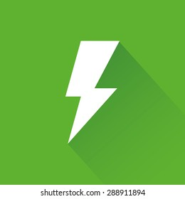 abstract sustainability icon on a green background