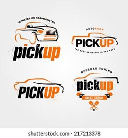 abstract SUV car design concept automotive topics ,car service ,vector logo design template