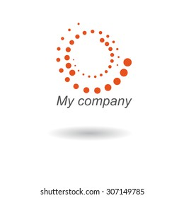 Abstract swirl dots. Vector logo element